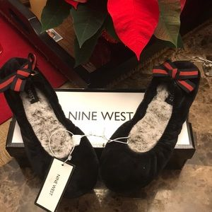 NEW  Nine West Ballet Slippers  size L (9-10)